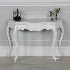 Painted Console Table French Chateau White Painted Carved Console Table Bedrooms