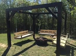 backyard swings and fire pit home outdoor decoration