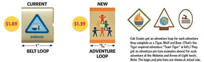arrow of light scouting adventure how cub scouts earn adventure loops pins in new program