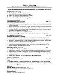 Example Resume For Maintenance Technician by 100 Apartment Maintenance Technician Resume Copier Service