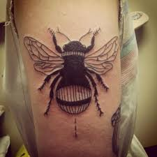 bumblebee tattoo by pineapple tattoos