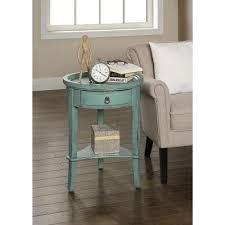 round teal 1 drawer accent table rc willey furniture store