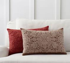 Pottery Barn Lumbar Pillow Covers Sabyasachi Romany Embroidered Lumbar Pillow Cover Design Trend