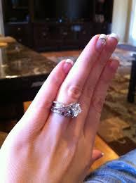 2 5 Cushion Cut Diamond Engagement Ring 5 1 Ct Emerald Princess Cushion Cut Rings On Hand Weddingbee