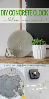 How To Make Homemade Concrete by Remodelaholic Simple Diy Concrete Clock Tutorial With Less Mess