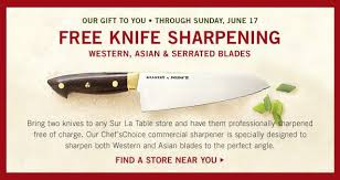 sur la table knife sharpening free free knife sharpening at sur la table saving with shellie
