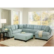 Blue Sectional Sofa With Chaise by Light Blue Suede Sectional We Are Looking At The Sofa Chaise Combo