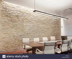 office conference room with creative lighting designed by
