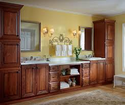 Cherry Bathroom Cabinets Shaker Style Bathroom Vanity Diamond - Floor to ceiling cabinets for bathroom