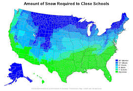 Unh Campus Map A Sas Map Of Snow Amounts For Closings The Sas Training Post