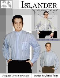 islander sewing systems 209 men u0027s designer dress shirt