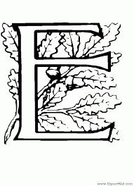 Coloriage Lettre E à imprimer dans les coloriages Lettrine 3