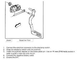 gmc brake light switch replacement how do i replace the brake light switch on a 1998 chevy c1500 i can