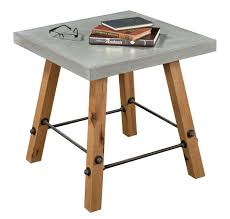 industrial modern coffee table custom made local yoder cement top end table industrial modern by