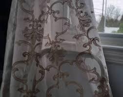 Sheer Scarf Valance Window Treatments Scarf Curtains Etsy