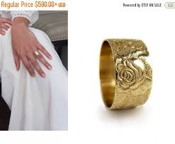 solid gold band flower 14k gold wedding band wide wedding ring