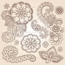 henna flowers henna mehndi doodles abstract floral paisley