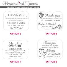 wooden thank you cards with magnet personalized favors