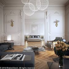 design home interior living room bedroom camel floors white walls grey couch