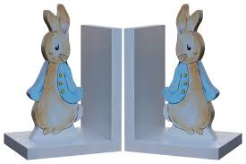 bunny bookends rabbit bookends wooden beatrix potter bookends