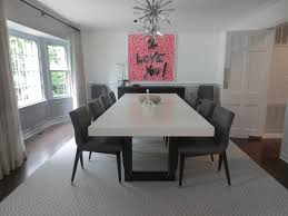 Kitchen Dining Tables White Concrete Zen Dining Table By Trueform Concrete Custom