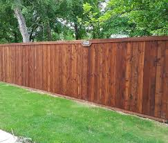 standard wood fence front stained fence companies roofing