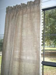 Smocked Burlap Curtains Fringed Burlap Curtains Fringed Burlap Panel Fringed Burlap