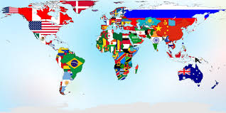 States Flags Course Student Exchanges