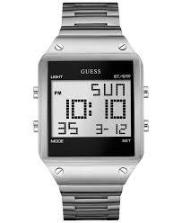 mens bracelet digital images Lyst guess men 39 s digital silver tone bracelet watch 55x38mm jpeg