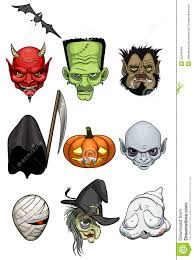 monsters halloween halloween monster heads royalty free stock images image 34294369