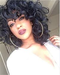 naturally curly hairstyles for plus size women amazon com yourwigs short curly kinky wigs for black women