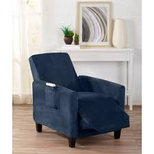 slipcover for recliner chair velvet form fit stretch slipcovers gale collection by great bay home