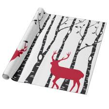 birch tree wrapping paper christmas tree wrapping paper zazzle