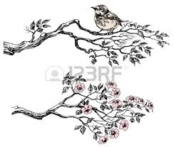 vector collection of tree branch silhouettes royalty free cliparts