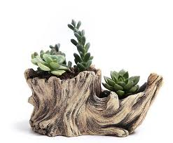 creative antique wooden flower pots for succulents imitation wood