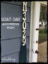 Outdoor Decorative Signs 13 Best Oars Images On Pinterest Address Signs At Home And