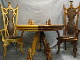 Chess Table And Chairs Zongkers Award Winning Chess Set