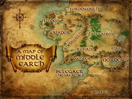 entire middle earth map elizabeth brown middle earth