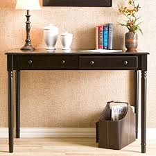 southern enterprises writing desk amazon com southern enterprises 2 drawer wood writing desk in satin