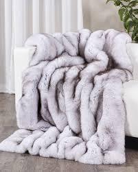 Faux Fox Fur Throw Full Pelt Blue Fox Fur Blanket Fur Throw Fursource Com
