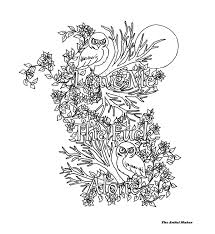 leave me the alone coloring page by the artful