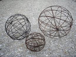 wrought iron garden balls spheres in many sizes topiaries