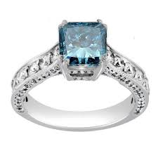 blue diamond wedding rings radiant blue diamond engagement ring engagement rings review