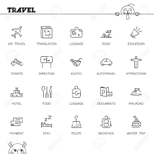 travel symbols images Travel flat icon set collection of high quality outline symbols jpg
