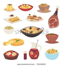 illustration cuisine spain cuisine vector food cookery traditional stock vector