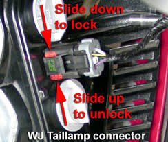 2001 jeep grand cherokee brake light jeep grand cherokee wj ls and lighting bulb removal
