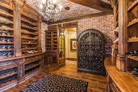 basement extraordinary trap door wine cellar with brick walls and
