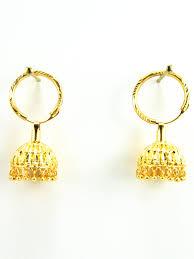 gold jhumka hoop earrings punjabi jhumka kundan earrings lotan silver metal earrings