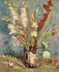 Vase With Red Poppies Vincent Van Gogh Vase With Gladiolo And Autumn Asters At Van