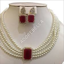 pearl ruby necklace images Ruby pearl necklace set ruby pearl necklace set manufacturer jpg